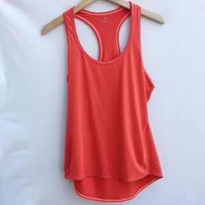 Athleta orange chi racer back workout tank top.
